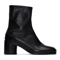 Maison Martin Margiela Black Leather Tabi Boots
