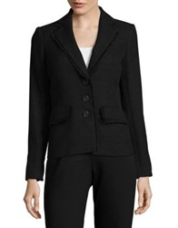 Karl Lagerfeld Suits Textured Notch Lapel Blazer Black