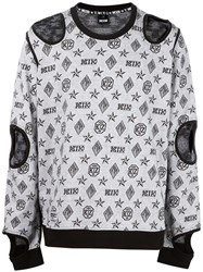 Ktz Inside Out Cut Off Sweartshirt White