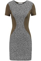 Kain Label Oliver Cotton Blend Boucle And Jersey Mini Dress Gray