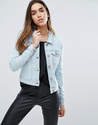 Noisy May Debra Denim Jacket Light Blue Denim