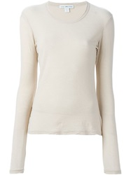 James Perse Longsleeve T Shirt Nude And Neutrals