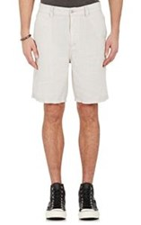 John Varvatos Star U.S.A. Slub Weave Shorts Grey