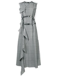 Maison Martin Margiela Decortique Ruffle Dress Grey