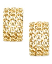 Erwin Pearl Atelier For Charter Club Gold Tone Woven Chain Huggie Earrings Only At Macy's