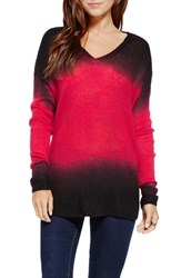 Women's Two By Vince Camuto Dip Dye Pullover Sweater Crimson