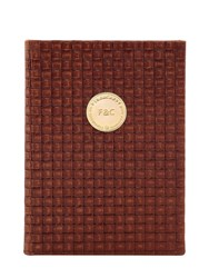Fineandcandy Intersection Woven Leather Notebook