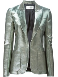 Faith Connexion Peaked Lapel Metallic Blazer