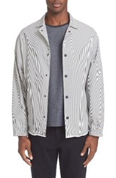 Tomorrowland Men's Stripe Shirt Jacket