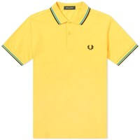 Fred Perry Slim Fit Twin Tipped Polo Yellow