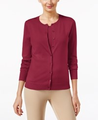 August Silk Long Sleeve Cardigan Retro Wine