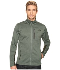 The North Face Canyonlands Full Zip Sweatshirt Duck Green Heather Men's Coat Blue