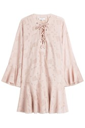 Iro Dress With Lace Up Front Beige