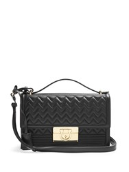 Salvatore Ferragamo Aileen Quilted Leather Shoulder Bag Black