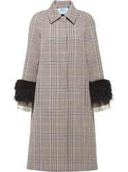 Prada Prince Of Wales Checked Coat 60