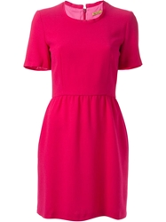 Peter Jensen Raw Neckline Dress Pink And Purple