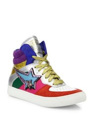 Marc Jacobs Eclipse Colorblock High Top Sneakers Rainbow