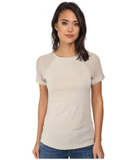 Tart Juno Top Dark Oatmeal Women's Short Sleeve Pullover Tan