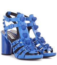 Balenciaga Giant Leather Sandals Blue