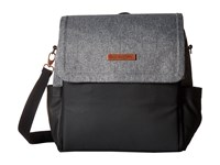 Petunia Pickle Bottom Glazed Color Block Boxy Backpack Graphite Black Backpack Bags Gray
