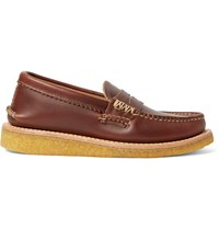 Yuketen Leather Penny Loafers Brown