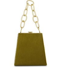 Alessandra Rich Pyramid Tote Olive