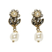 Gucci Gold Flowers Drop Earrings