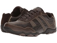Skechers Classic Fit Diameter Herson Dark Brown Leather Men's Shoes