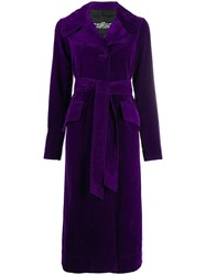 Marc Jacobs Belted Trench Coat Purple