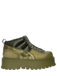 Fenty X Puma 40Mm Silk And Leather Sneakers