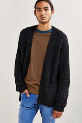 Urban Outfitters Uo Grandpa Boucle Cardigan Charcoal
