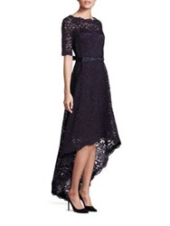 Rickie Freeman For Teri Jon Lace Hi Lo Gown Navy