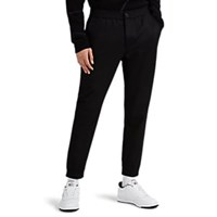 Theory Woodmere Wool Blend Flannel Trousers Black