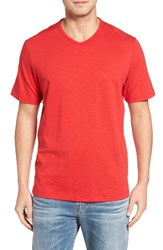 Tommy Bahama Men's Big And Tall Portside Player V Neck T Shirt Mars Red