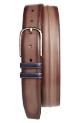 Mezlan Men's Leather Belt Brown Multi
