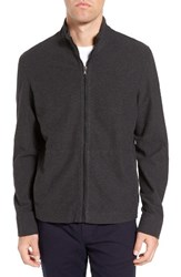 James Perse Men's Zip Up Heathered Knit Jacket