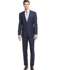 Andrew Marc New York Marc New York By Andrew Marc Navy Pindot Slim Fit Suit