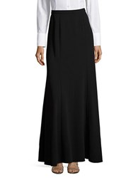 Alex Evenings Crepe Maxi Skirt Black