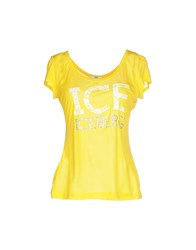 Ice Iceberg Topwear T Shirts Women Blue