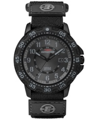 Timex Men's Expedition Camper Trail Black Fast Wrap Nylon Strap Watch 45Mm T49997um