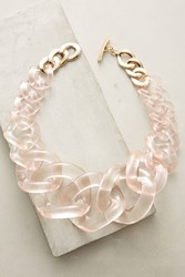Anthropologie Looped Lucite Necklace Rose