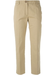 Erika Cavallini Semi Couture Cropped Trousers Brown