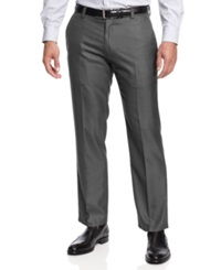 Kenneth Cole Reaction Slim Fit Sharkskin Dress Pants