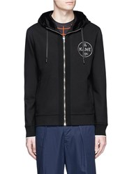 Christopher Kane 'Law And Order' Patch Zip Hoodie Black