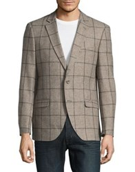 Black Brown Checkered Sportcoat Natural