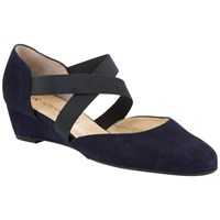 Peter Kaiser Jaila Cross Strap Wedge Heeled Court Shoes Navy