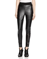 Aqua Faux Leather Moto Style Leggings