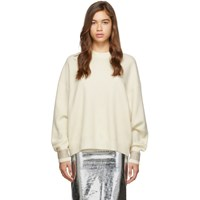 Alexander Wang Off White Crystal Cuff Pullover