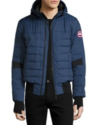 Canada Goose Cabri Hooded Down Bomber Jacket Blue