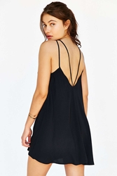 Staring At Stars Strappy Back Swing Dress Black